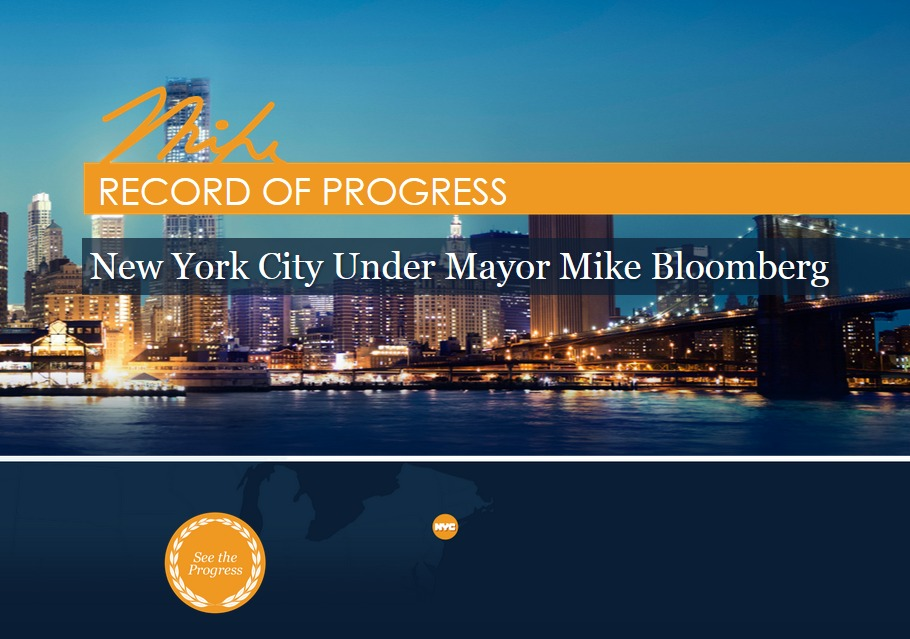 Mayor Bloomberg Launches Campaign-Style Legacy Tour