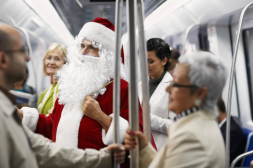 Christmas Eve on the A Train is NSFW
