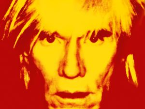 Andy Warhol's eye-popping 1986 self portrait, at Caratsch.