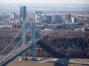 The New Jersey side of the George Washington Bridge.