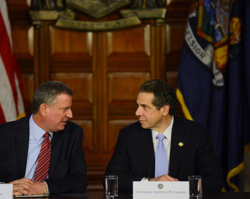 De Blasio and Cuomo Play Nice for the Cameras in Midst of Pre-K Showdown