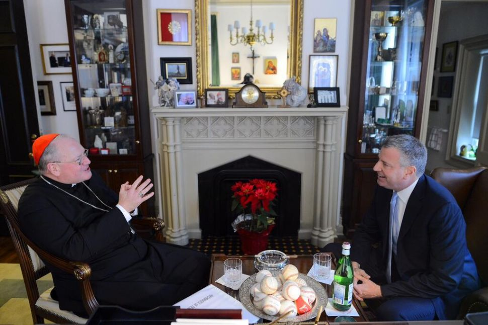 Mayor de Blasio and Cardinal Dolan Join Forces to Try to Bring Pope to New York