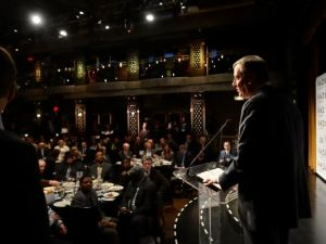 Bill de Blasio at the awards this morning.