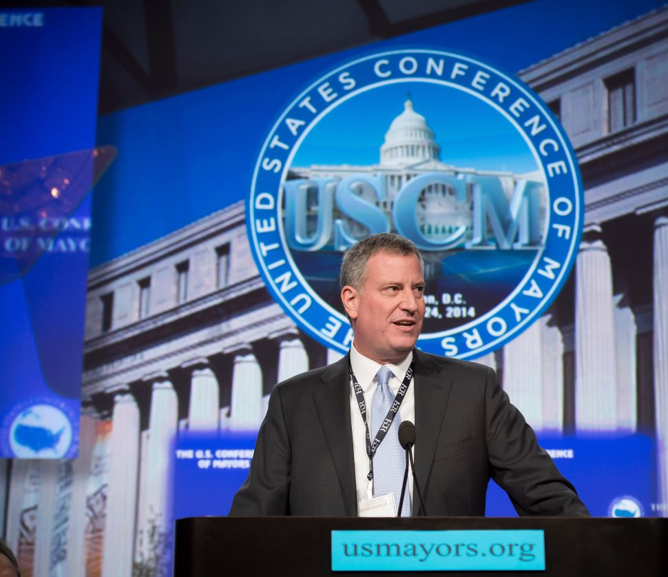 De Blasio Says Mayors Will Unite to Force Washington's Hand on Progressive Causes