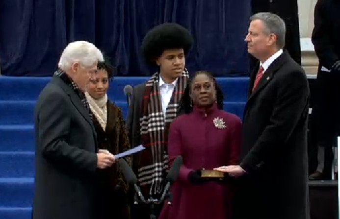 De Blasio 'Very Comfortable' With Controversial Inauguration Speeches