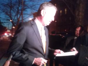 Bill de Blasio at today's briefing.