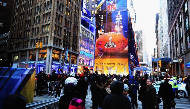 Super Bowl Boulevard. (Photo via Getty Images)