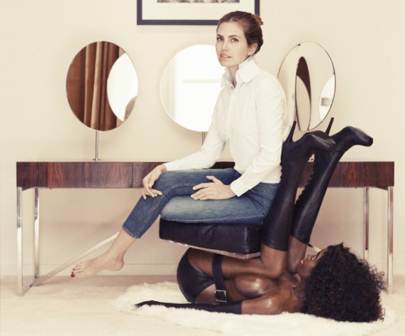Here Is a Photo of Dasha Zhukova Sitting on a Sculpture of a Black Woman That Was Released on MLK's Birthday
