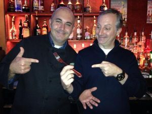 """""""Goodfellas owners with the FORK. #Forkgate"""" (Photo: John Kenny/Twitter)"""