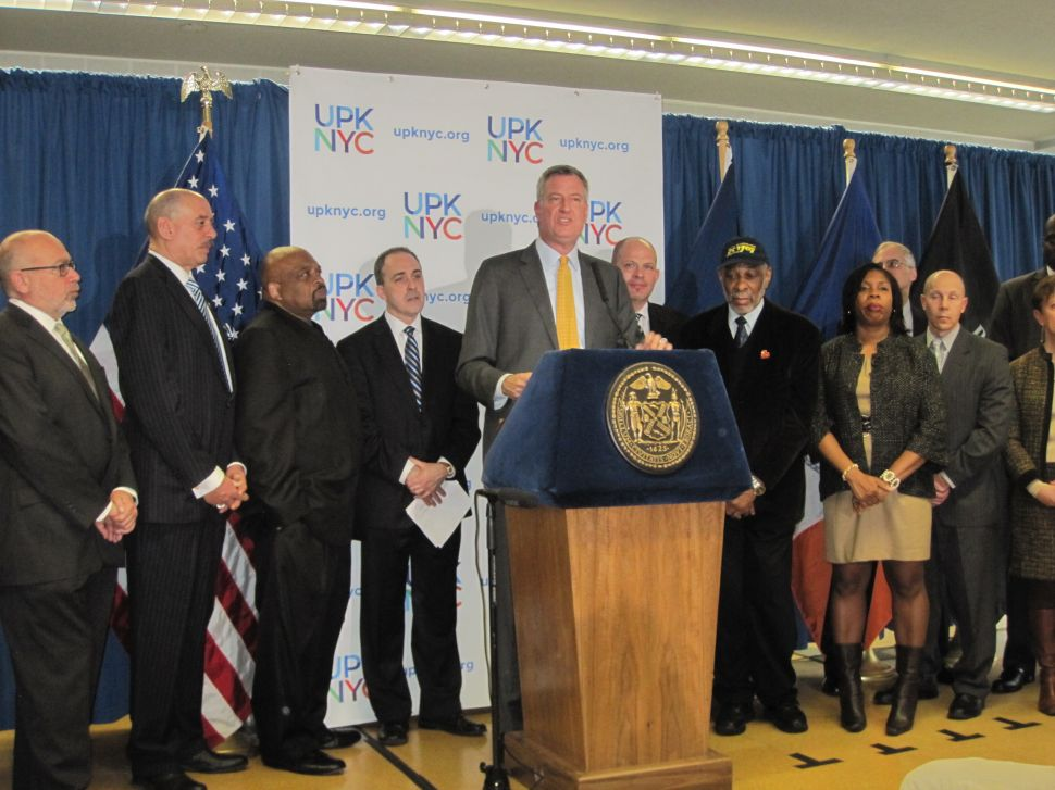 De Blasio Compares Pre-K Poll Question to 'Bowl of Free Candy'