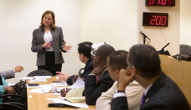 Melissa Mark-Viverito at a City Council meeting. (Photo: William Alatriste/NYC Council)