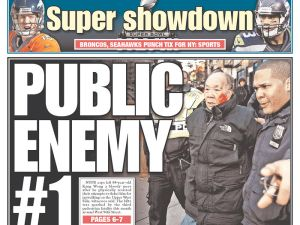 Today's New York Post cover features the controversial jaywalking incident.