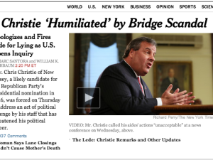 New York Times Christie Coverage