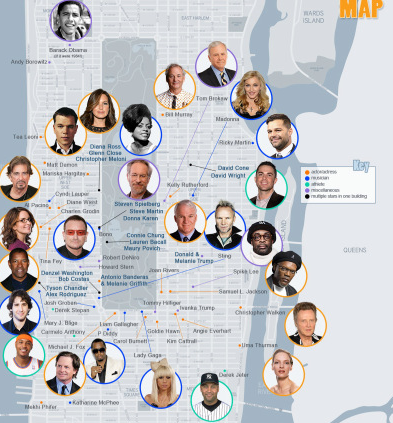Where Do Rich and Famous New Yorkers Live?
