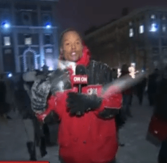 Questionably Sober Columbia Students Pelt CNN Reporter With Snowballs