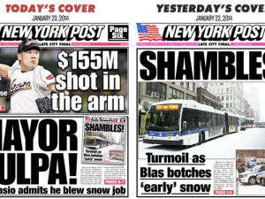 New York Post covers the snowstorm