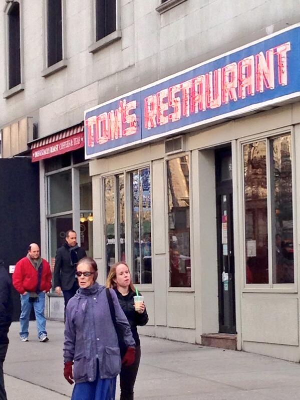 Jerry Seinfeld, Jason Alexander and Larry David Took Over Tom's Restaurant Monday