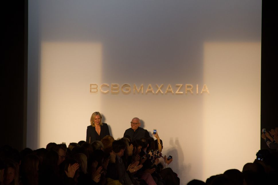 Backstage with Max Azria of BCBG