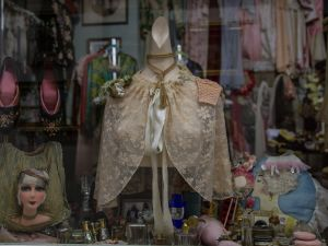 The storefront at Illsa's vintage lingerie. Photo by Arman Dzidzovic.