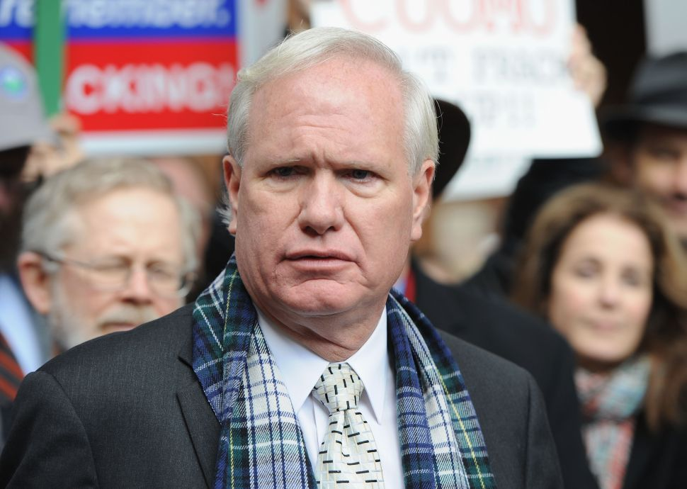 Handful of Protesters Crash Tony Avella Event