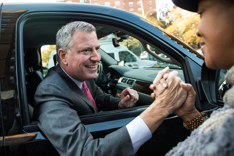 Bill de Blasio Refuses to Take 'Speedgate' Questions Despite Vow