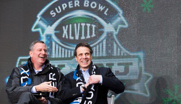 Gov. Andrew Cuomo and Mayor Bill de Blasio, in happier times. (Photo: Getty)