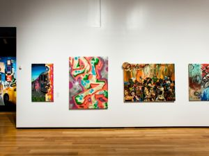 Installation view with Daze's 'Hotel Amazon' (1988) second from right. (Photo by Liz Ligon, courtesy the Museum of the City of New York)
