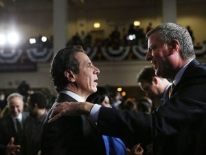 Gov. Andrew Cuomo and Mayor Bill de Blasio.