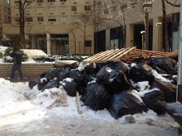 White Trash: New Yorkers Raise a Stink Over Snow-covered, Uncollected Garbage
