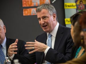 Bill de Blasio. (Photo: Andrew Burton/Getty)