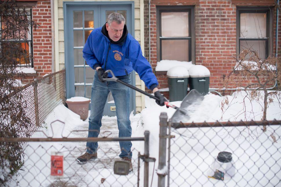 Bill de Blasio Has 'Zen' Perspective on Snow Criticism