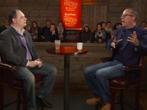 Buzzfeed Brews with Jerry Seinfeld and Peter Lauria.