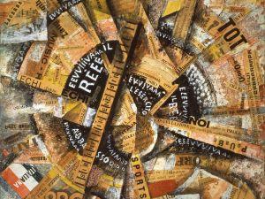 'Interventionist Demonstration (Manifestazione Interventista)' (1914) by Carlo Carrà. (© 2013 Artists Rights Society (ARS), New York / SIAE, Rome, courtesy the Solomon R. Guggenheim Foundation, New York)