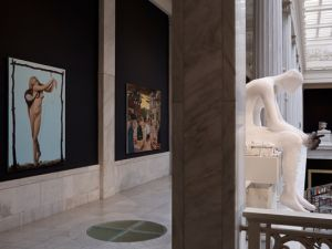 'Prince of Swords' (2013) by Eisenman, at far right, which was acquired by the Carnegie. (Photo by Greenhouse Media, courtesy the artist and Koenig & Clinton)