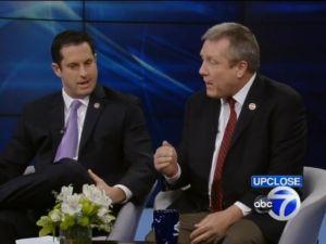 State Senator Greg Ball (left) argues with Councilman Danny Dromm.
