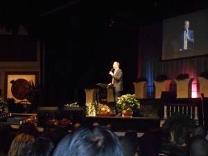 Mayor Bill de Blasio speaking today.