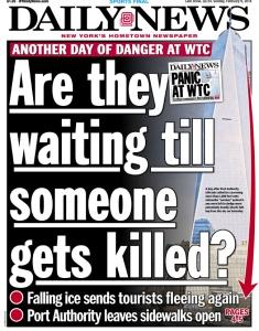 Snow Fight: The <em>New York Post</em> Takes Aim Against The <em>Daily News</em> Over Falling Ice