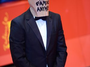 Shia LaBeouf, trawling for attention at the Berlinale. (Photo via Getty Images)