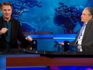 Liam Neeson on The Daily Show.
