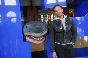 Ian Ziering could be more menacing than this prop. (Photo by: Will Hart/Syfy)