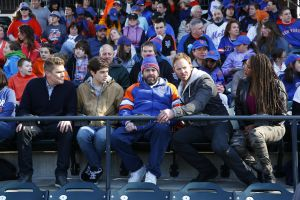 The sharknado comes to a Mets game. (Photo by: Will Hart/Syfy)