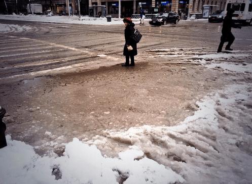 Getting Our Feet Wet: New York's Preeminent Sidewalk Slush Pics