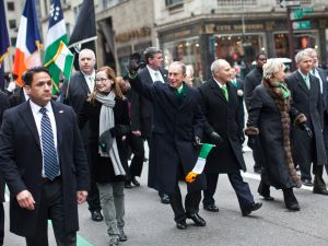 Former Mayor Michael Bloomberg marching in the 2013 parade. (Photo: Ramin Talaie/Getty)