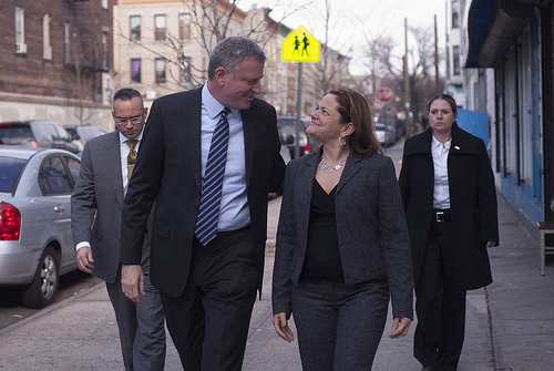 Mayor Bill de Blasio and Council Speaker Melissa Mark-Viverito.