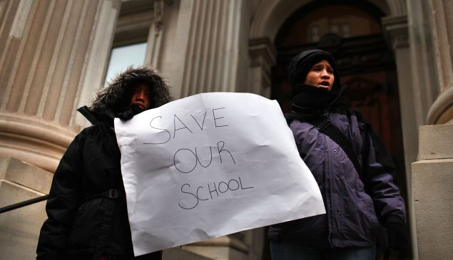 A pro-charter rally last year (Photo: Spencer Platt/Getty Images).