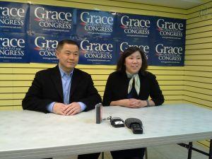 John Liu with Congresswoman Grace Meng today.