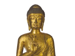 An 11th-12th-century Buddha, estimated at $1.5 million to $2.5 million at Christie's. (Courtesy Christie's)