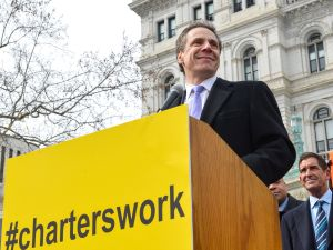 Andrew Cuomo attending a pro-charter rally. (Photo: Flickr/Governor's Office)
