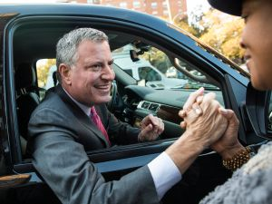 Bill de Blasio expressed support for Ydanis Rodriguez's alternate side parking bill (Getty Images).
