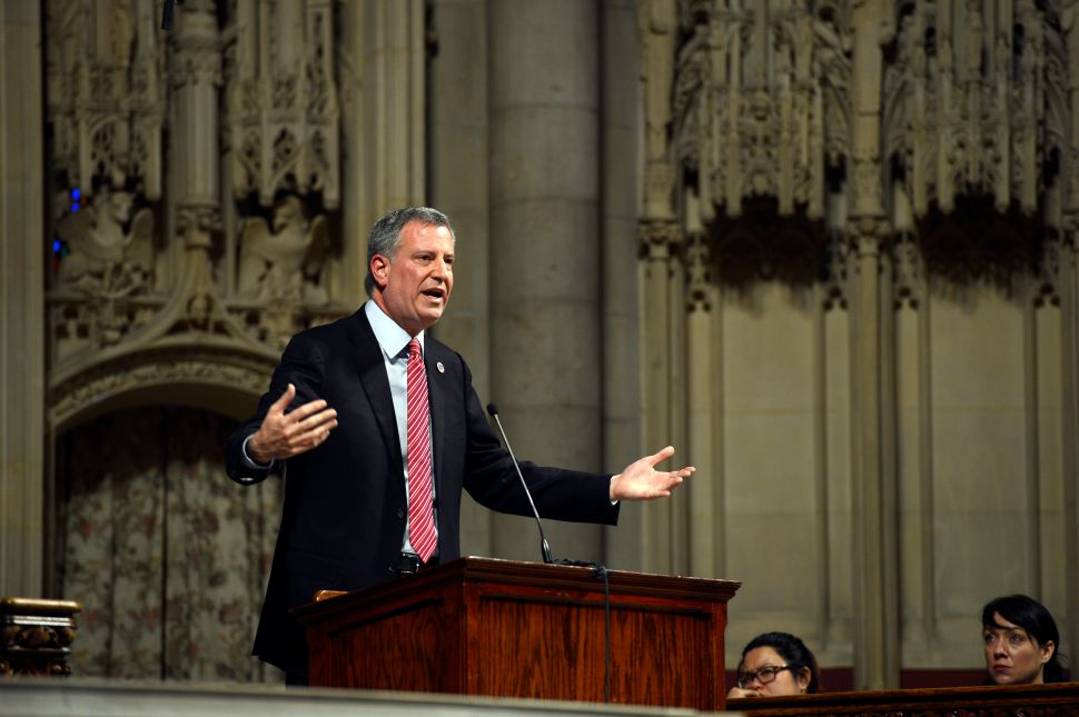 Bill de Blasio to Mark 100 Days in Office With Major Speech